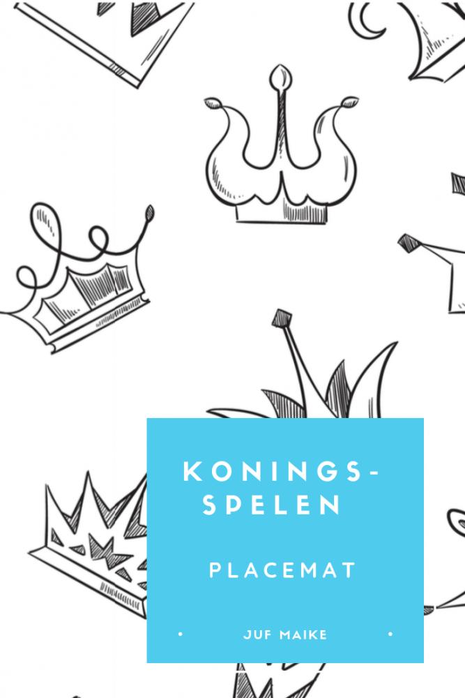 Koningsspelen placemat