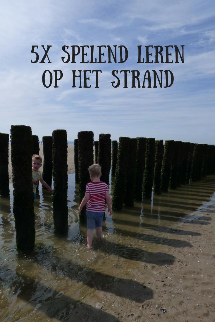 5x spelend leren op het strand