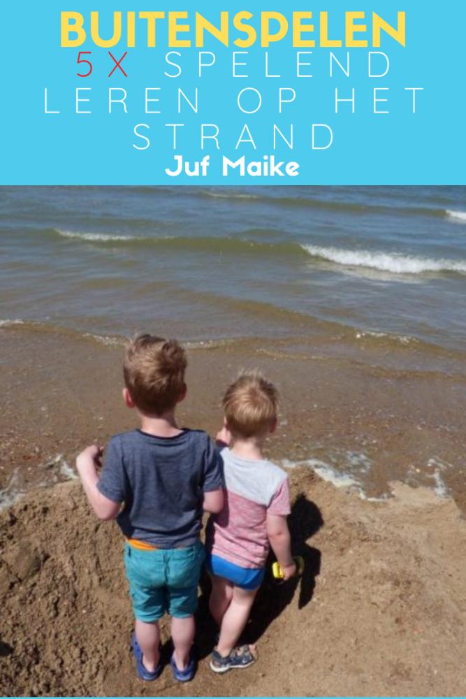 Buitenspelen; Spelend leren op het strand