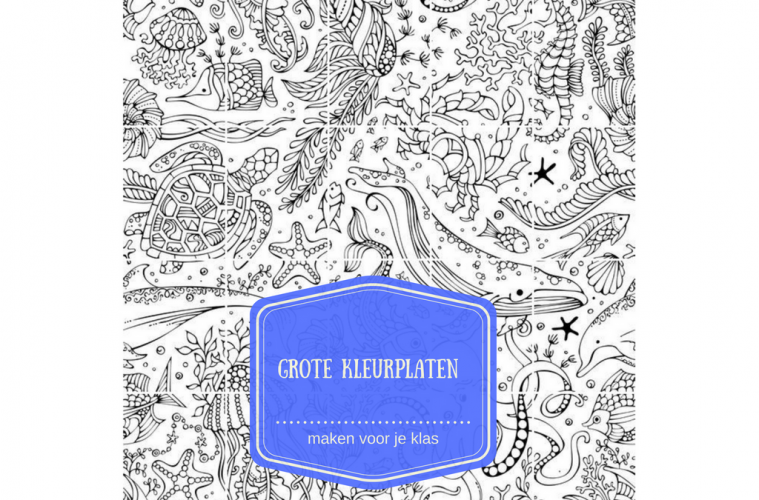 Kleurplaten Verjaardag Meester.Grote Kleurplaten Maken Voor Je Klas Juf Maike Tips Voor