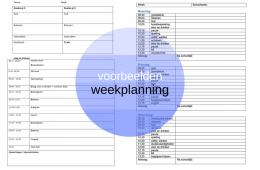 Lesrooster, weekplanning middenbouw en bovenbouw