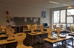 Het klaslokaal van Jamie Lee