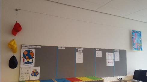 Het klaslokaal van Jamie Lee muren