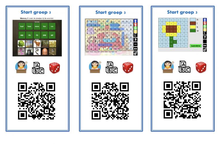 groep 3 QR-kaarten