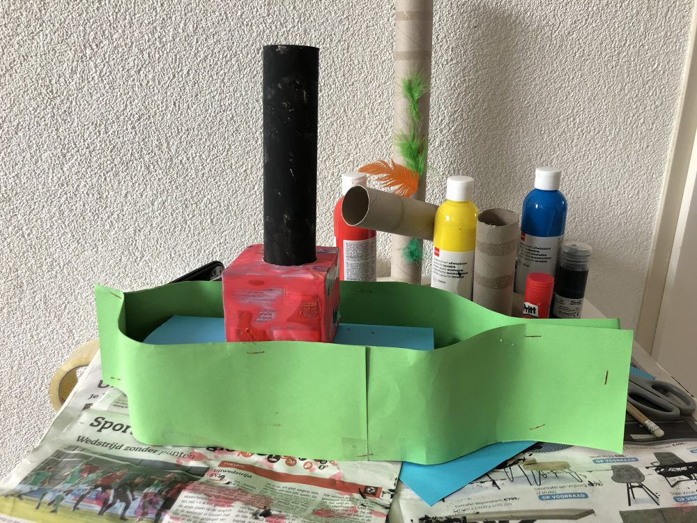Stoomboot plakken
