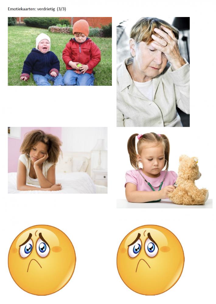 Emotiekaart verdrietig