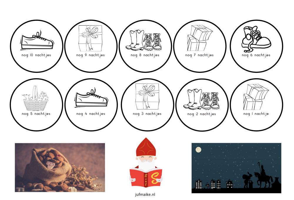 Aftelkalender Sinterklaas 2018 simpel