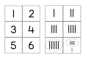 Getalbeelden of getalkaarten downloaden
