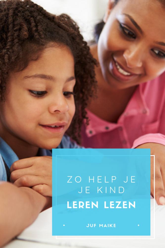 Leren lezen, zo help je je kind