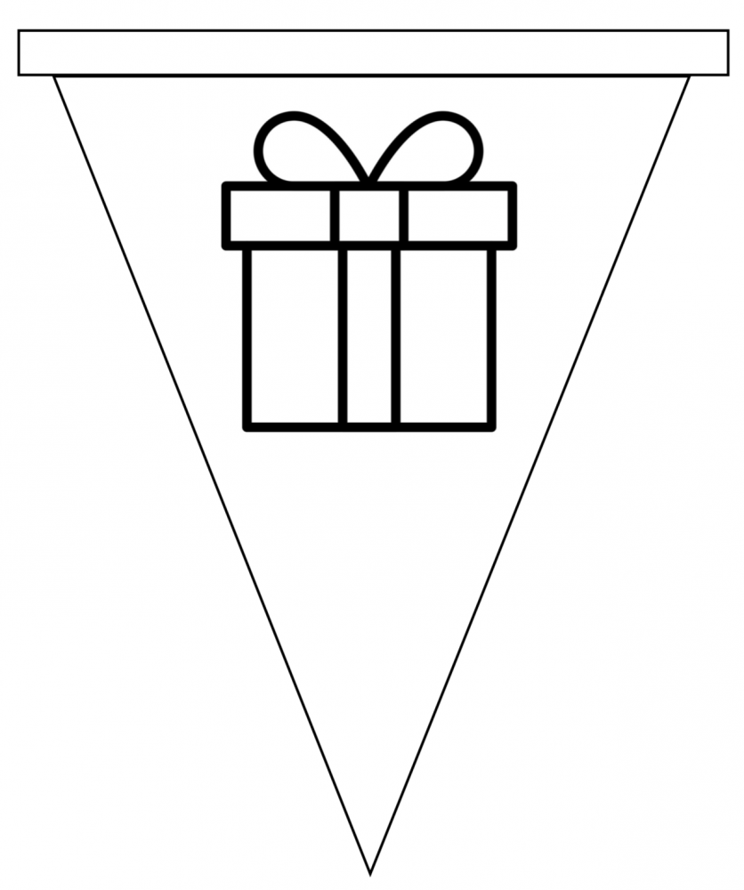 Sinterklaas vlaggetjes cadeau