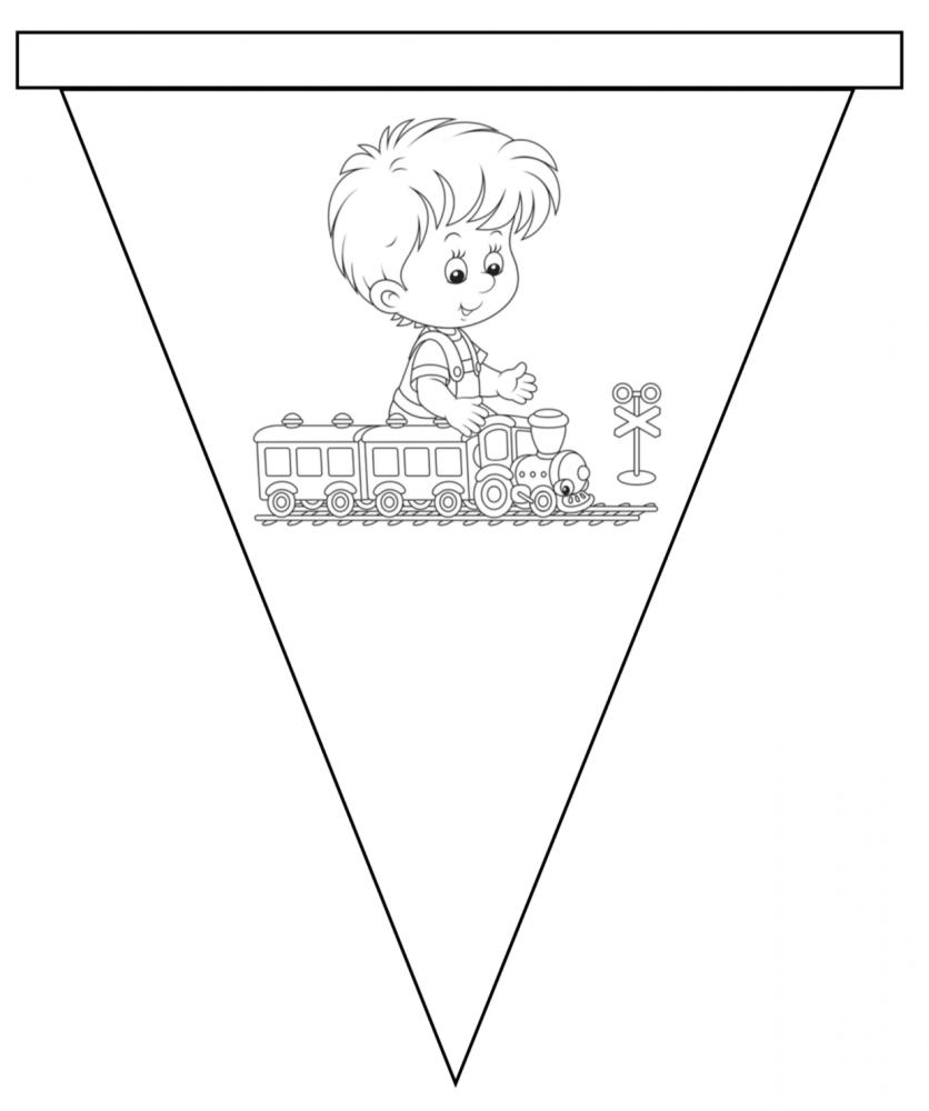 Sinterklaas vlaggetjes spelend kind