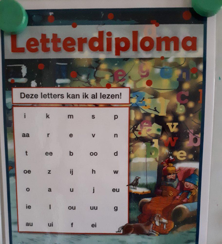 Letterfeest groep 3 diploma