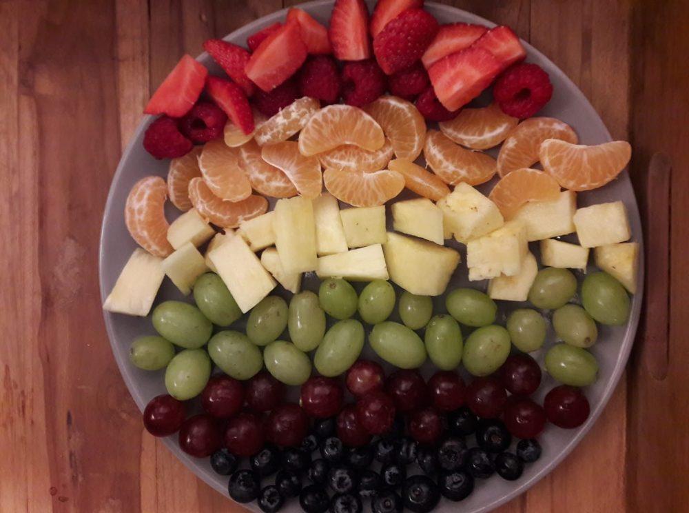 Gezonde traktatie fruitsalade