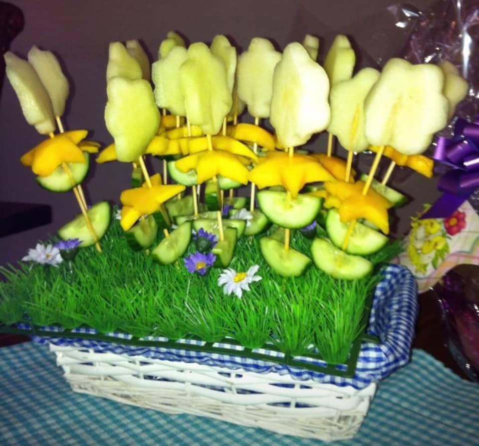 Gezonde traktatie bloemetjes
