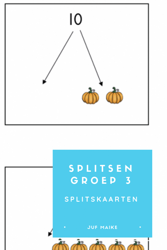 Splitsen groep 3 met splitskaarten
