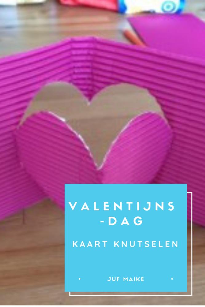Valentijnsdag kaart knutselen
