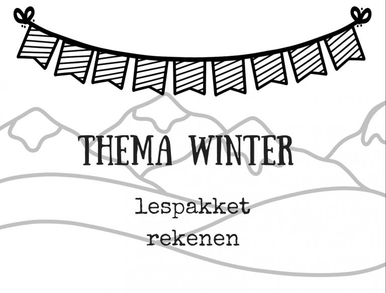 Thema winter lespakket rekenen