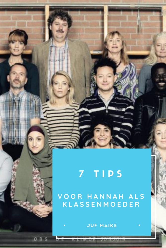 7 tips voor Hannah als klassenmoeder