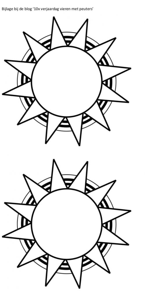 Feestmuts zon