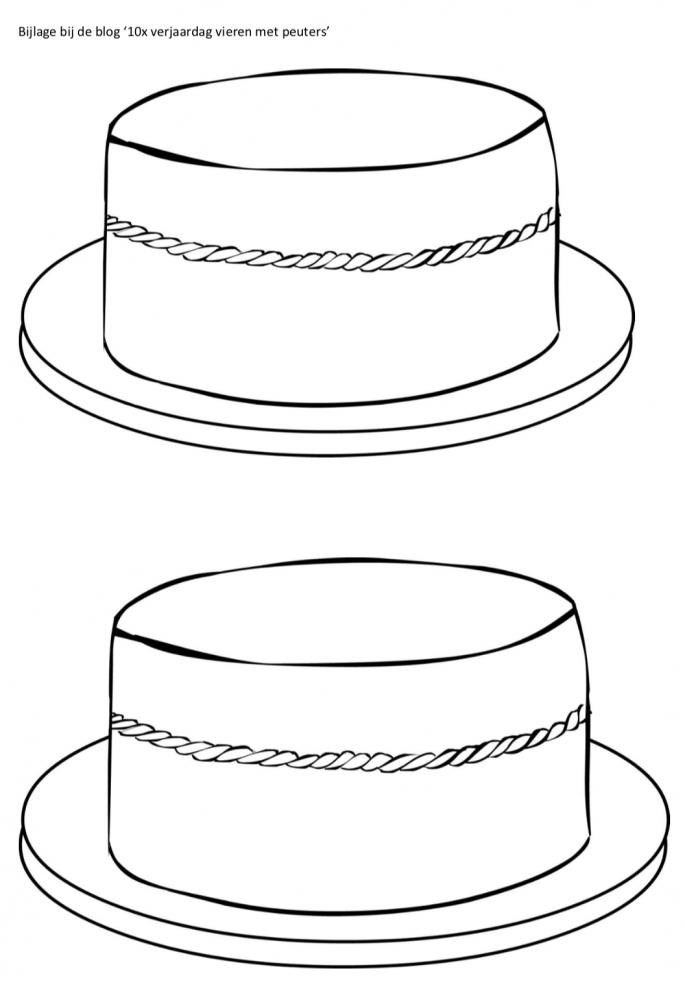 Feestmuts taart