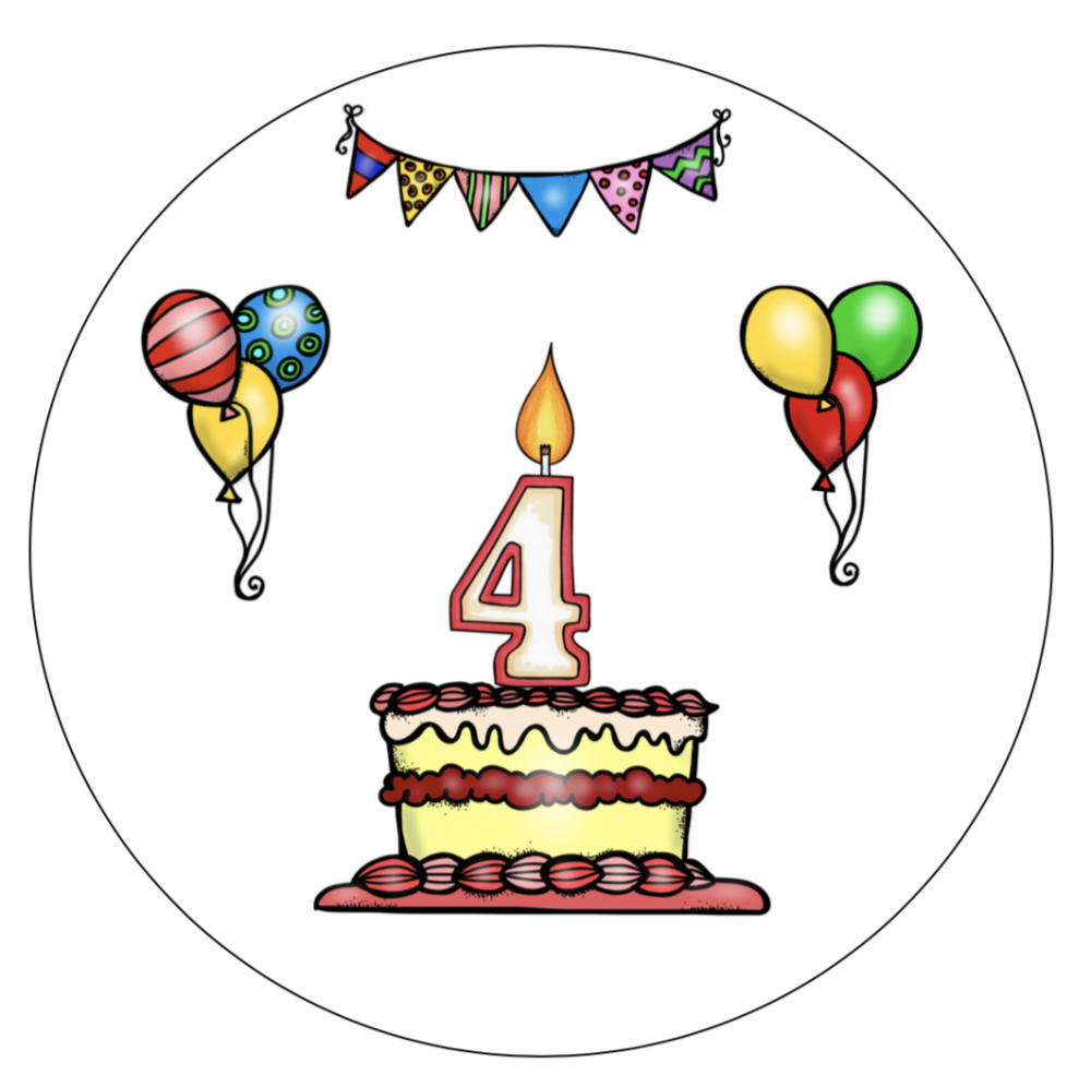 Verjaardagshoed 4 jaar