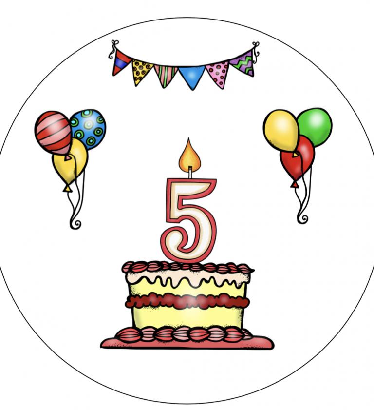 Verjaardagshoed 5 jaar