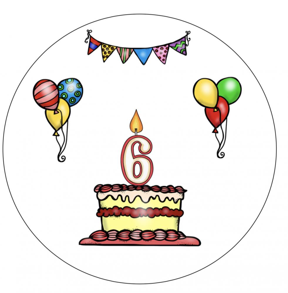Verjaardagshoed 6 jaar