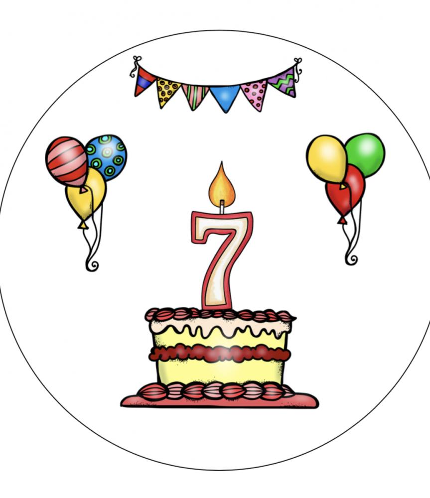 Verjaardagshoed 7 jaar