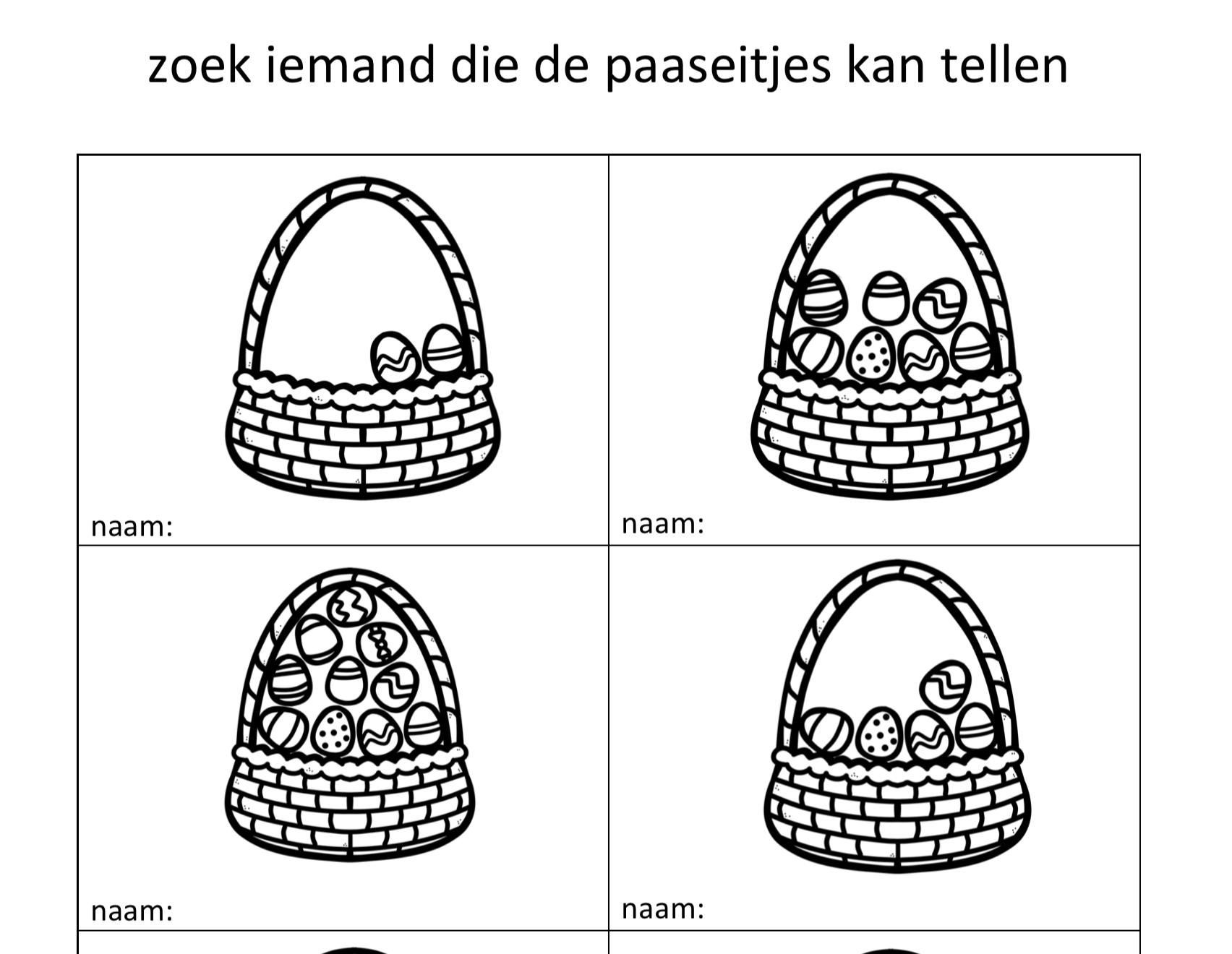 Zoek iemand die Pasen
