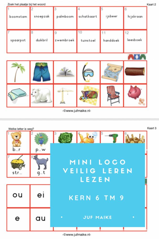 Mini loco veilig leren lezen kern 6 tm 9