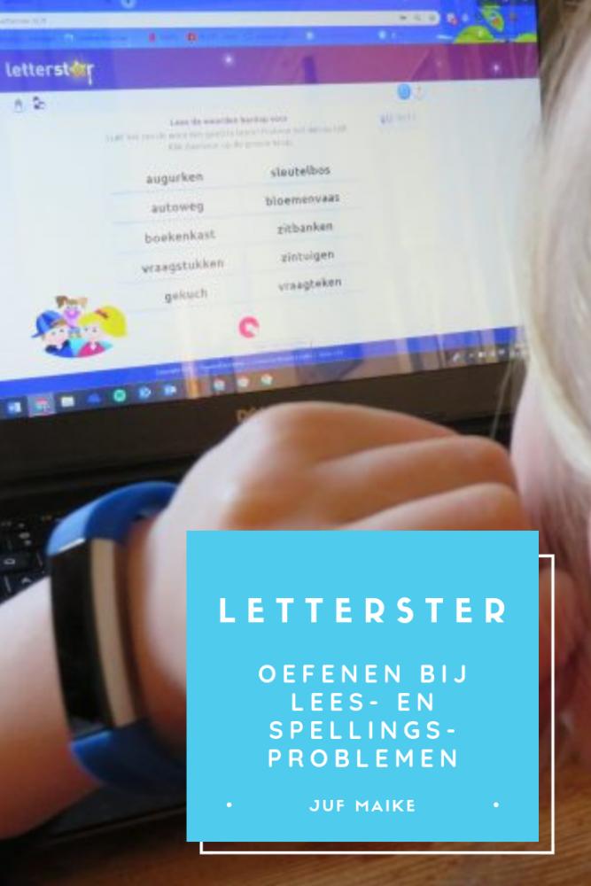Letterster; oefenen bij lees- en spellingsproblemen
