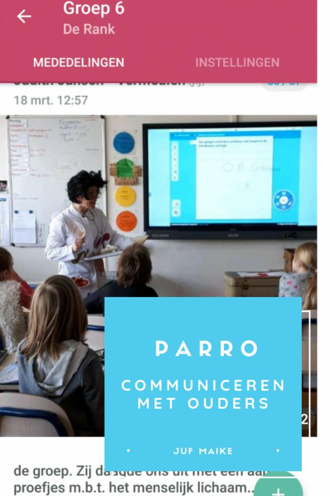Parro: communiceren met ouders