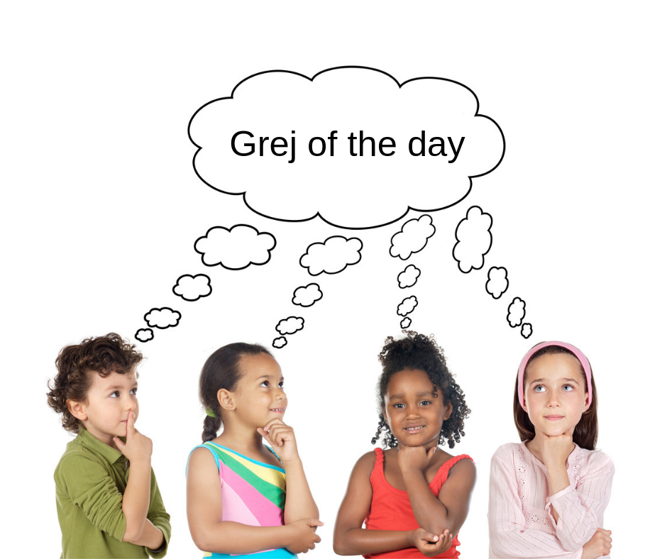 Grej of the day raadsels