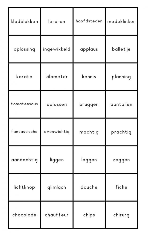 Spellingskaartjes