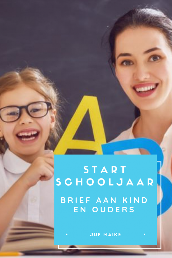 Start schooljaar brief aan kind en ouders