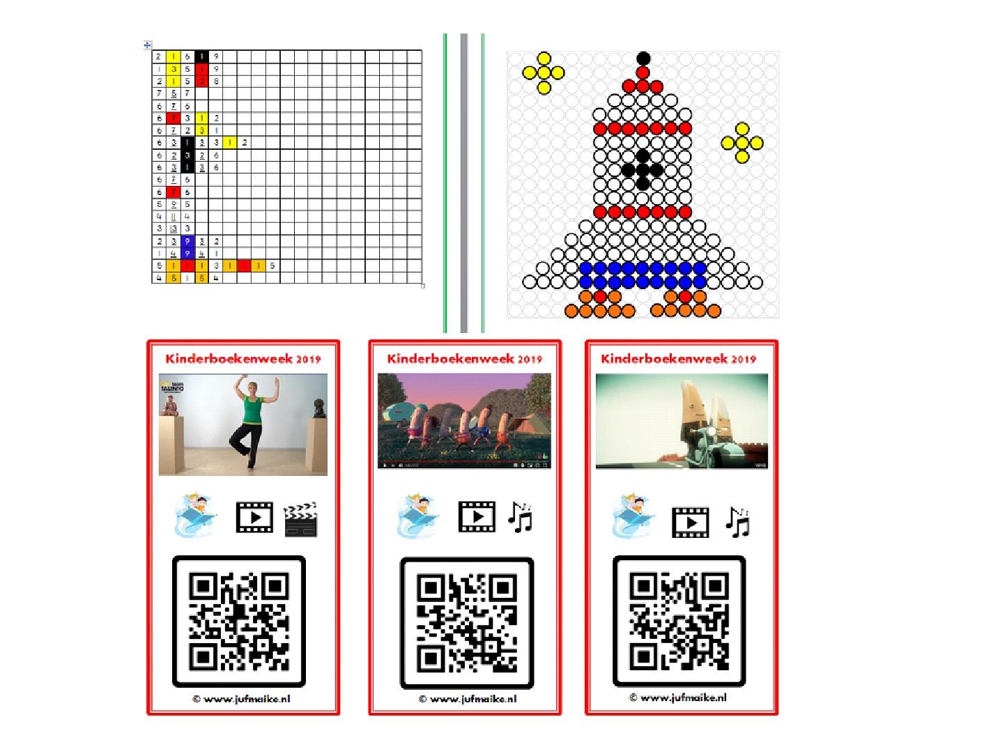 Vervoer kralenplank en QR codes