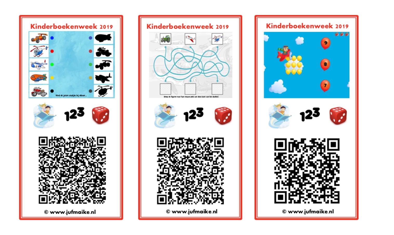 QR kaarten Kinderboekenweek