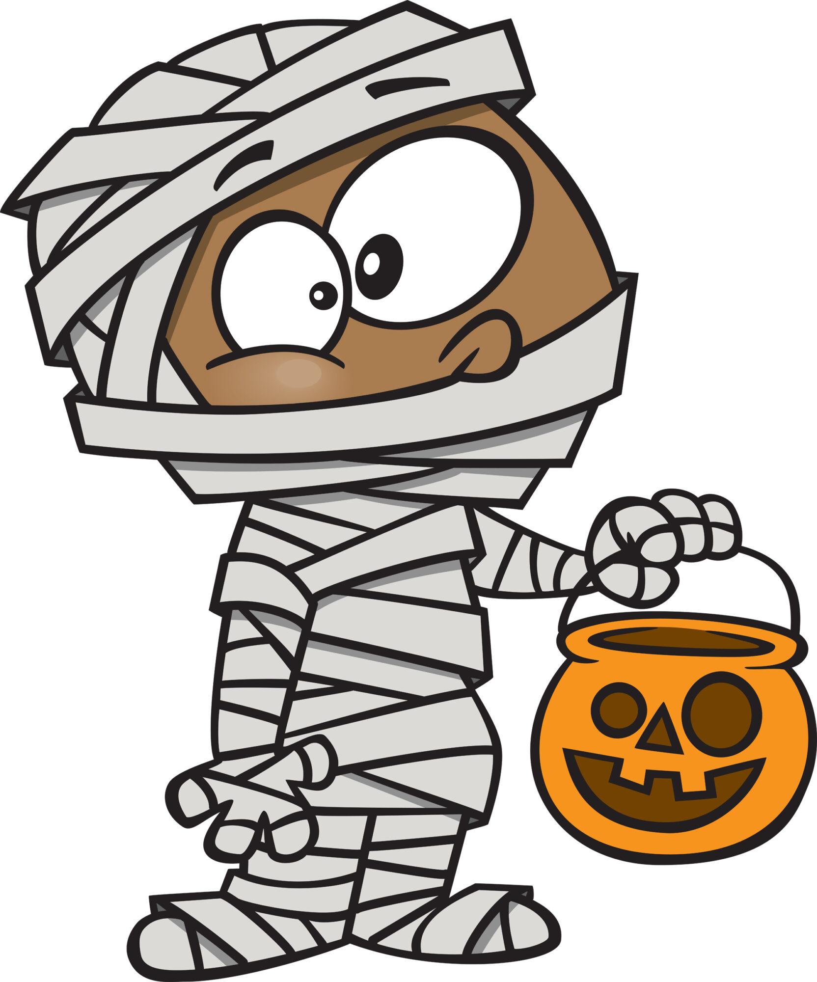 Halloween knutselen mummie