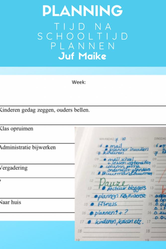 Klassenmanagement; Maak ook eens een planning voor de tijd na schooltijd.