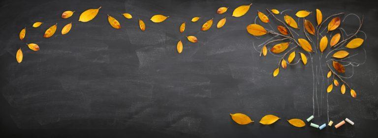Herfst aankleding in de klas