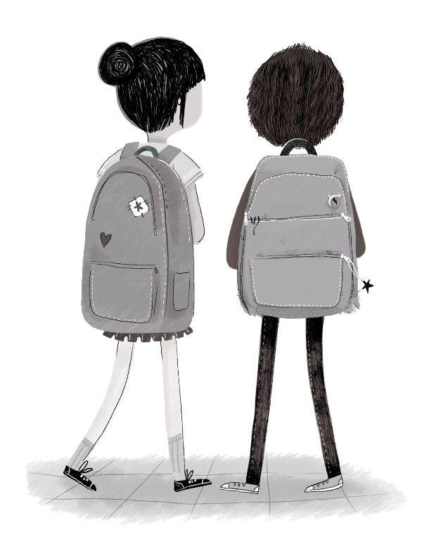 De jongen achter in de klas