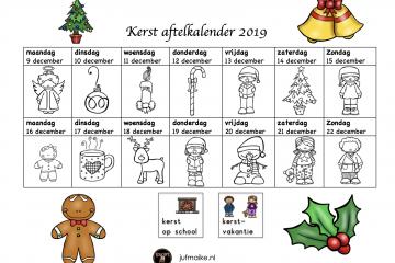 Aftelkalender kerstvakantie 2019