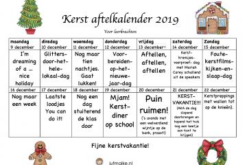 Aftelkalender kerst 2019 leerkracht