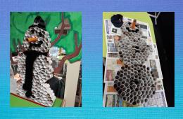 Groepswerk sneeuwpop maken
