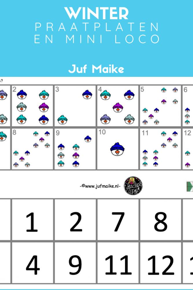 Praatplaten en Mini Loco thema winter voor kleuters - Juf Maike