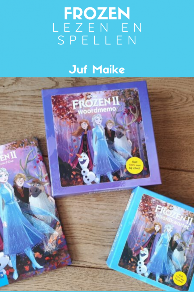 Frozen lezen en spellen; Boek, kwartet en memorie