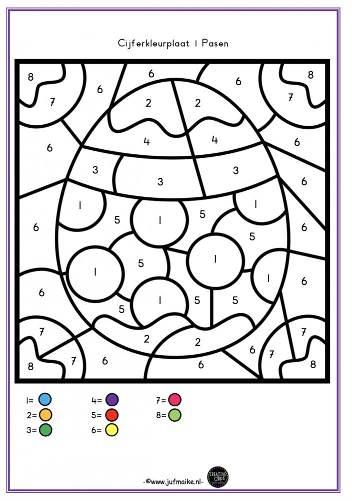 Kleuren op code Pasen