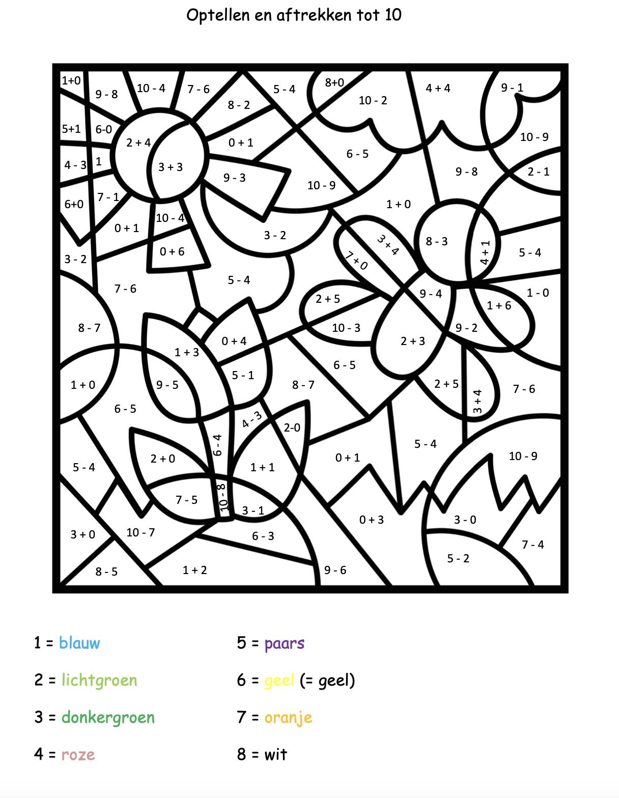 groep 3 kleuren op code lente en pasen juf maike