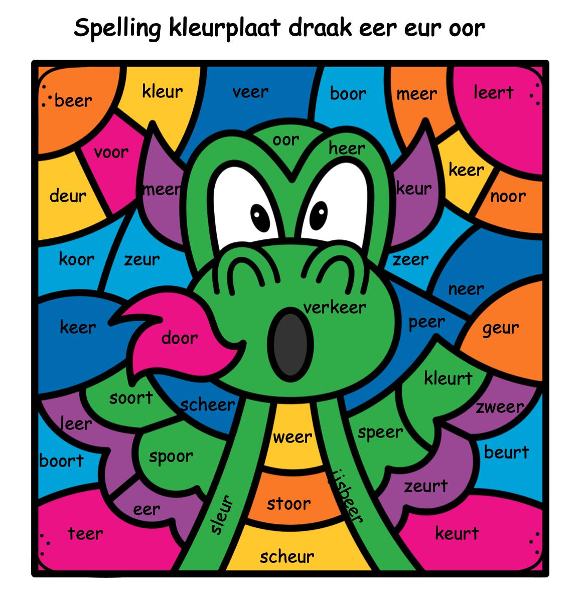 Spelling eer-eur-oor