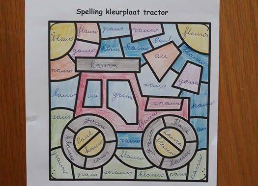 Spelling kleurplaten groep 3 en 4